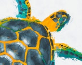 Original Art - FLOATING TURTLE