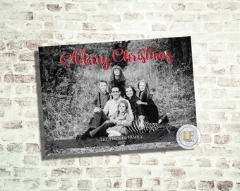 Full Photo Merry Christmas Photo Card (24 HR or LESS TURNAROUND)