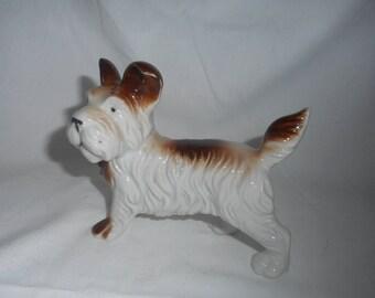Vintage Terrier Figurine - Porcelain China
