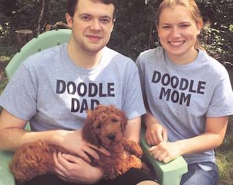 Doodle Dad Doodle Mom Shirt Set