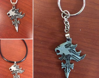 Final Fantasy 8 Necklace, FF8 Key Chain, Final Fantasy Squall Griever, Squall Leonhart Griever, squall leonhart necklace, Squall Cosplay