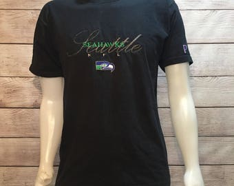 Rare Vintage NFL Seattle Seahawks Football ProPlayer T shirt
