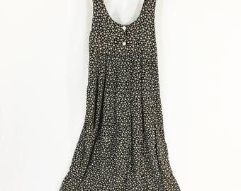 Vintage 90s Floral Babydoll Maxi Dress / 90s Grunge / Oversized fit / Size XS-M