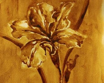 Original art, watercolor painting, coffee art, original art painting, original painting, original watercolor painting, coffee painting