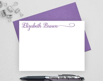 Personalized note card set, calligraphy note card, Custom stationery, Personalized stationery set, personalized stationary set, NC8