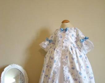 Dress baby 18th century style cotton Marie-Antoinette history