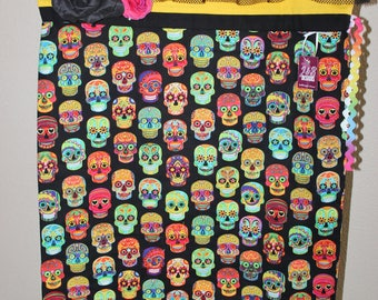 Halloween Trick or Treat Bag (Day of the Dead Drawstring Pillowcase)