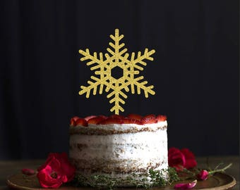 Christmas snowflakes cake topper, Christmas cake topper, holidays cake topper, Christmas Ornament Cake Topper, Holiday Birhday cake topper