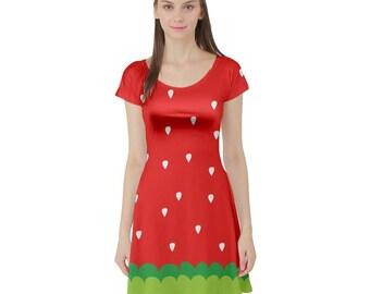 Ichigo Dress - Katamari Short Sleeve Dress Katamari Cousins Dress Cosplay Dress Katamari Damacy Plus Size Dress Video Game Dress Ichigo Dipp
