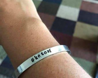 Hand Stamped #ketoaf Bracelet  (Real World Keto / Ketosis)