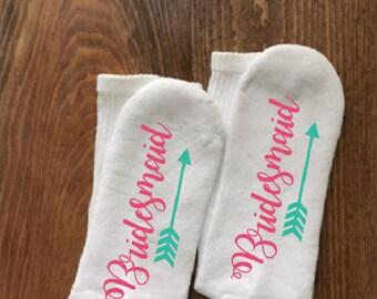 Bridesmaid Socks, Bridesmaid Gift, Wedding Socks, Wedding Party Gift, Maid of Honor, Bridesmaid, Summer Wedding, Winter Wedding, Spring