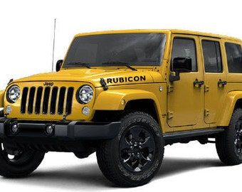 Jeep Rubicon Color Hood Decals Pair - Custom windo decals for jeepsjeep hood decals and stickers custom and replica jeep decals now