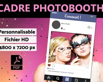 Cadre à selfie personnalisable - Photobooth INSTAGRAM // A imprimer - fichier numérique