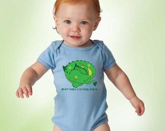 Never Tickle a Sleeping Dragon Baby Onesie