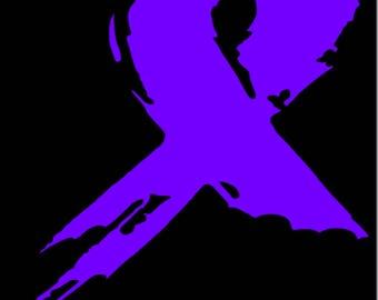 """12"""" Preemie awareness ribbon decal"""