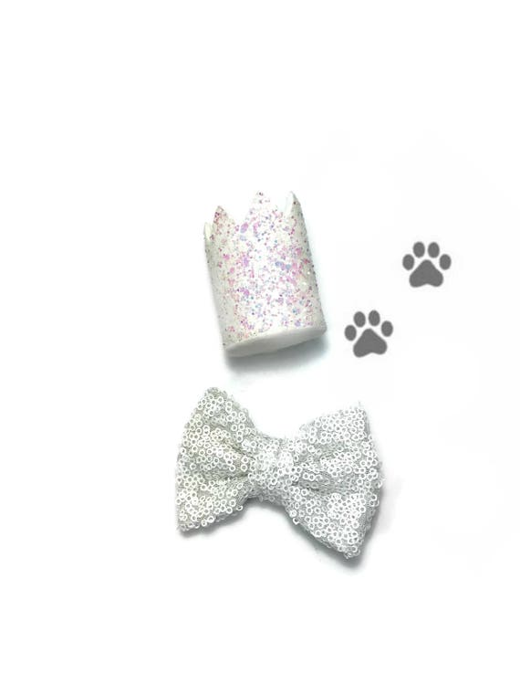 Animal Party Hat and Bow Tie || Dog Birthday Outfit  || Cat Kitty Puppy Pig Birthday Crown Hat || Add Any Number