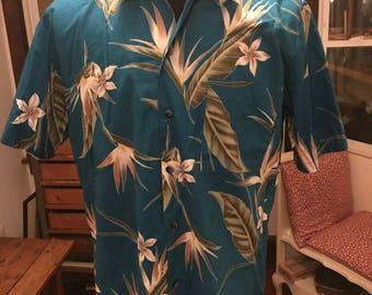 Vintage 1990's Hawaii Blues Hawaiian Shirt