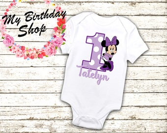 Minnie Mouse Birthday Shirt / 1st, 2nd, 3rd, 4th, Birthday Shirt / Minnie Mouse Birthday Shirts / Birthday Girl Shirt / Minnie Mouse 2nd