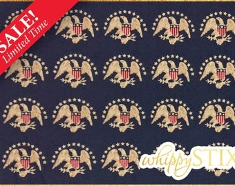 20% OFF! Patriotic Fabric by the Yard, America the Beautiful Judie Rothermel Marcus Brothers BTY USA Eagle Stars Seal Cotton Quilting Fabric