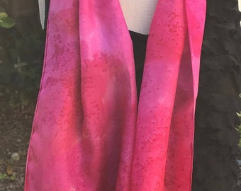 Hot Pink Silk Scarf- Salt