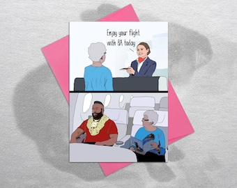 BA – Funny Birthday Card, Birthday Card Boyfriend, Birthday Card Girlfriend, Birthday Card Funny, Holiday Card, The A-Team, BA Baracus, Mr T
