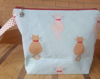 Medium Project Bag 'Cats'