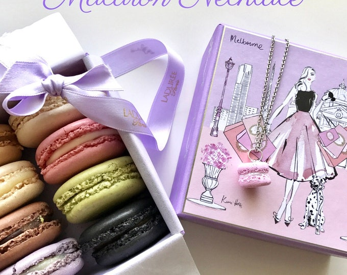 Strawberry Scented Macaron Necklace - A French Iconic Classic piece of Jewellery