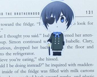 Kuroshitsuji - Magnetic bookmark - Ciel || anime | manga lover gifts | bookmark | bookish | bookmarks | phantomhive | magnetic bookmarks