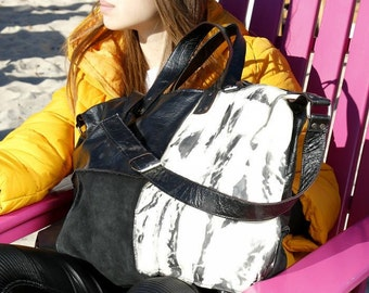 Genuine Leather tote bag/extravagant tote bag/