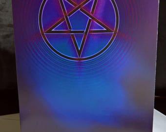 Pagan Wiccan Pentagram Pentacle Festival Greetings Card