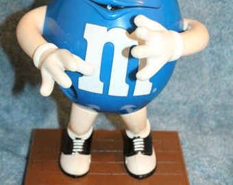 Vintage M&M Candy Dispenser Blue No Saxophone