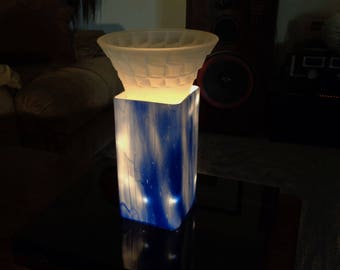 """Lighted Sculpture-""""cairns"""" One-of-a kind /Accent Light/Centerpiece/Conversation piece ø"""