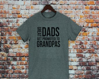 Favorite Grandpa Shirt-Great Dads Get Promoted To Grandpa T-shirt- Men's shirt, Gift For Grandpa, Pregnancy announcement gift, Unisex Fit.