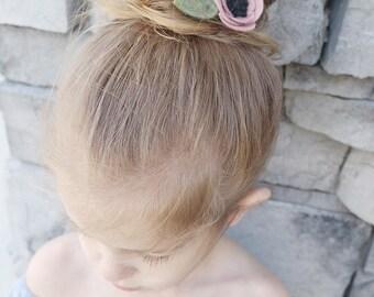 Rosy PinkFelt Flower on a Alligator Hair Clip, alligator clip, haor clip, little girl hair clip, baby headband, felt headband, little girl h