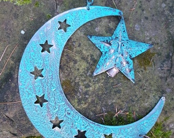 Celestial Moon and Stars Windchime to remove negative energy and attract fairies