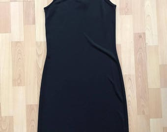 Vintage 90s Little Black Dress / Spaghetti Straps / Size S/M