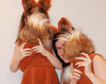 Adult fox costume /Fox Costume / Fox dress up /Fox women costume/ handmade costume / Halloween costume