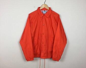 Vintage Orange Track Jacket Size Medium, Neon Orange Jacket