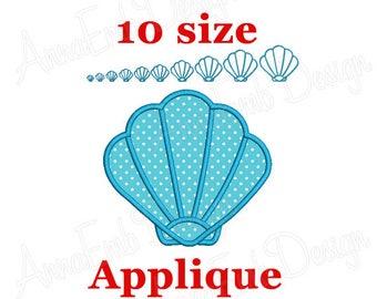 Sea Shell Applique Embroidery Design. Mini Shell. Seashell Design. Summer Applique. Sea Shell Embroidery. Machine Embroidery.