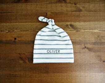 Personalized Baby Infant Hat - with Baby Name (Announcement, Gift)