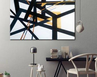 Living Room Art Black Wall Canvas Painting Oil Original Large