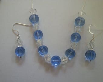 Blue and White Crystal Jewelry