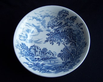Wedgwood and Co Ltd, Countryside Fruit/Dessert Bowl, Vintage English Blue and White Sauce Bowl