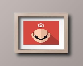 Super Mario - Minimalist Poster
