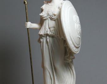 Greek Roman Goddess Athena Minerva Alabaster Statue Figure Sculpture 9.65in - 24.5cm **Free Shipping & Free tracking Number**