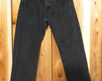 90s Levis 501/ 29 / 4-6 Black Levis / Button Fly,   / Made in Mexico /   Levis Straight Leg Jeans 29 x 29