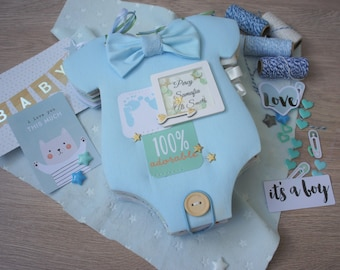 Baby Boy Photo Album, Baby Boy Memory Book, Baby Shower Gift, Newborn Photo Album