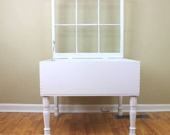 Dovetail Display Table   6 Pane Window Table   Shadow Box Table   Window Shadow  Table