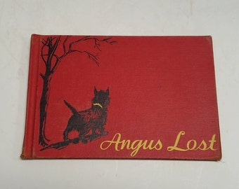 """Vintage, Antique,  First Edition,   1932 Scottish Terrier Classic - Angus Lost by Marjorie Flack ( Larsson ) . Movie """"Ask The Dust"""""""