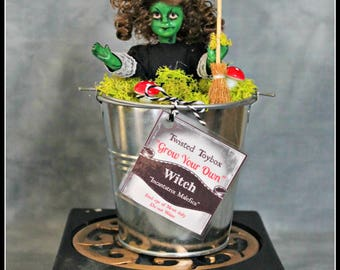 Grow your own Witch Oddity - Unique Halloween Gift - Witch Plant Curiosity Ooak